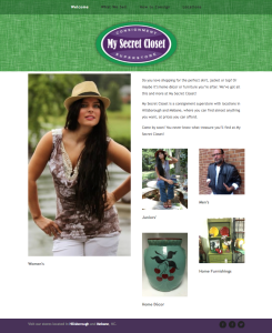 My Secret Closet website design and development
