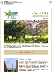 Forest at Duke electronic newsletter