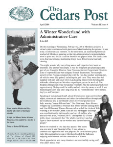 The Cedars Post newsletter